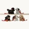 Hunde an Leine, ca. 15cm, sortiert