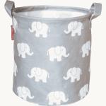 Aufbewahrungskorb grau Elefant