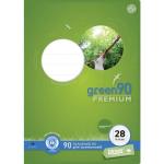 Heft A4 Lin. 28 Staufen green