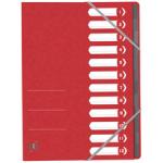 OXFORD Ordnungsmappe A4 12 Fächer rot