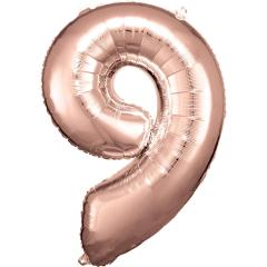 Folienballon 9 rose