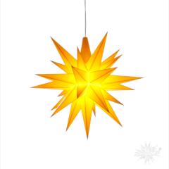 Herrnhuter Stern 13 cm gelb
