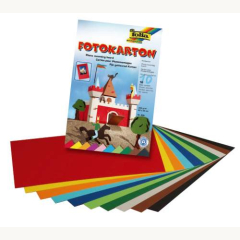 Fotokartonblock 22x33 cm 10 Farben sort.