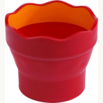 Wasserbecher Clic& Go FaberCastell rot